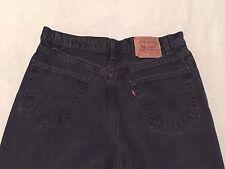 Levi's 550 Men's Relaxed Fit Black Denim Jeans Size 36 x 33 1/2