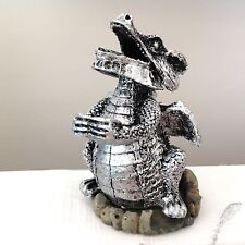NEW SILVER SMOKE BLOWING DRAGON INCENSE CONE HOLDER ASH CATCHER