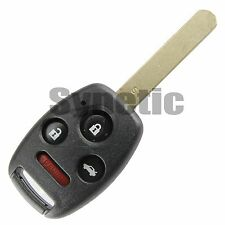 1x Replacement Key Case Shell Remote Keyless Fob For Honda 4 Buttons Uncut Blade