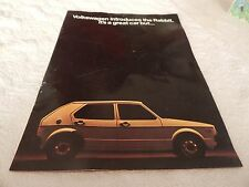 1975 Volkswagen Rabbitt Sales Brochure with color Specs