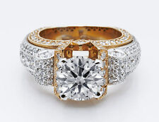 $56,000 Gregorio of Beverly Hills 5.50ctw with EGL USA 2.5ct VS2 H Round Center