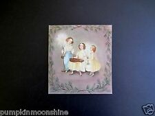 # I 908- Unused Tasha Tudor Xmas Greeting Card Children Singing Carols, Gorgeous
