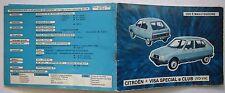 1980 CITROEN VISA SPECIAL - VISA CLUB manuale uso manutenzione originale