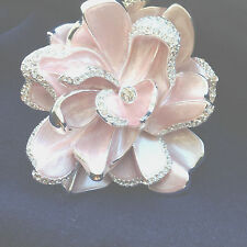 JOAN RIVERS LIMITED EDITION PINK PAVE' GARDENIA PIN (835-10-3)