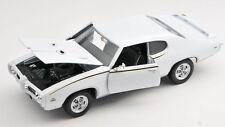 BLITZ VERSAND Pontiac GTO 1969 weiss / white 1:24 Welly Modell Auto NEU & OVP