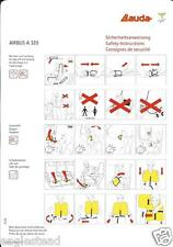 Safety Card - Lauda Air - A320 - c2006  (S3663)