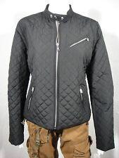 NWT LAUREN RALPH LAUREN Diamond-Quilted Moto Jacket Black size L