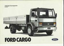FORD CARGO TRUCK LORRY SALES 'BROCHURE'/SHEET  MID 80's?  GERMAN LANGUAGE