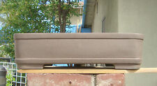 "Rectangle Zisha Bonsai Pot Kifu Shohin Dwarf Thick Planter New 17.5""x12.75""x4.5"""