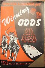 Vintage 1947 WINNING ODDS Gambling Strategy Book - Poker B.J. Races Bridge Dice