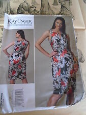 "PATRON""VOGUE CREATION KAY UNGER NEW YORK ROBE ELEGANTE  T 44 AU 50 N° 1241 (FF)"