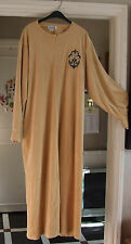 Gorgeous Full-Length Beige Velvet Robe Housecoat Lounge-Wear Dressing Gown 2XL