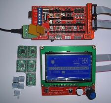 3D Printer Kit - Mega 2560+RAMPS 1.4+5x A4988 Driver+Display ,RepRap UK Stock