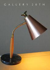 RARE! 1950'S ITALIAN MARBLE GOOSE NECK LAMP! Raymor Eames Vtg Mid Century Modern