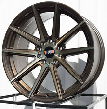 F1R F27 | 18X9.5 +38 | 5X4.75 5X120 | MACHINED BEONZE | RIMS WHEELS | SET OF 4