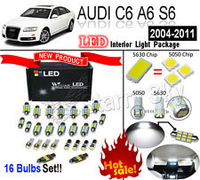 16 Bulbs Set Xenon White LED Interior Light Kit For AUDI C6 A6 S6 Error Free