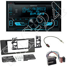 Kenwood DPX3000U CD/USB Radio + 5er BMW (E39) Radioblende black + 40-Flachpin