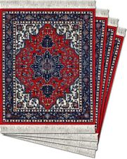 MouseRug CoasterRugs, Tabriz Heriz  w/Lextra FiberLok Graphics - Set of 4