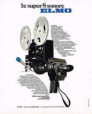 PUBLICITE ADVERTISING 114  1976  OLYMPUS-ELMO    1000S  caméra
