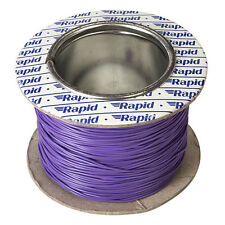 Model Railway Layout Lighting, DCC Chip etc Wire 100m Roll 10/0.1mm 0.5A Violet