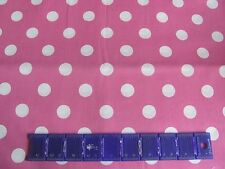 "POLKA DOTS 3/4"" SPOTS MINNIE MOUSE STYLE CANDY PINK on COTTON FABRIC By The Yard"