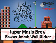Super Mario Bros. Bowser Smash Wall Custom Vinyl Sticker