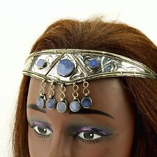 SILVERPLATED Lapis Stone CROWN Tribe TURKMAN Wedding HEADPIECE Belly Dance 619m8