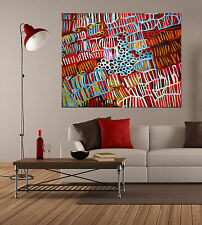 "47"" Aboriginal Art Painting Insects Grubs thick Oils to order by Jane Crawford"
