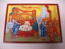 Hochzeit zu Kana Ikone Jesus wandelt Wasser zu Wein Icon Ikona orthodox Icoon