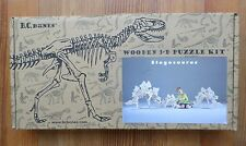 "NEW BC BONES Dinosaur 3D Puzzle Stegosaurus Wood 1998 Sz Small 16""x27"" Made USA"