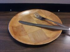 "8"" WOODWEAVE DINNER/SERVING PLATE ( SIX PER PACK ) DISHWASHER SAFE/MICROWAVEABLE"