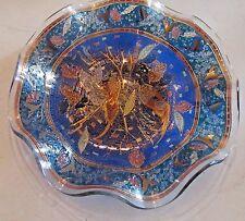 Art Glass Mosaic Style Pheasant Birds Plate/Dish Vintage? Ruffled Edge