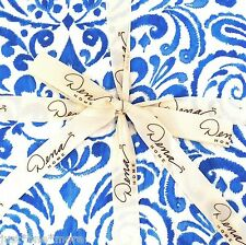 DENA Indigo Ikat TWIN QUILT NWT BLUE WHITE 100% Cotton FLORAL PAISLEY Watercolor