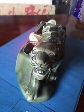 Vintage Porcelain Ceramic Mid Century Panther Television Tv Light Lamp Tiger
