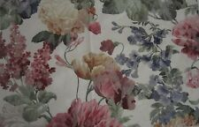 Vintage Tiffany Garden Print Fabric 2 yards Shabby Tapestry Chic BarkCloth NOS
