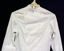 Dickies White Grand Master Chef Coat Jacket 36 New CW070101 Egyptian Cotton