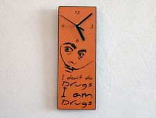 Dali Quote - I don't do drugs, I am drugs - Wall Clock