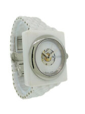Nixon A138 100 Debutant Women's Automatic Square White Ceramic Date Watch