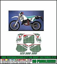 kit adesivi stickers compatibili   mx 125 250 300 500 1991