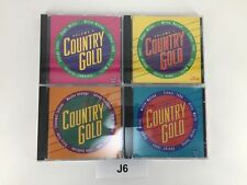 Lot of 4 CD'S COUNTRY GOLD VOLUMES 5 6 7 & 9 Willie Nelson Waylon Jennings J6