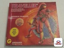 TRAVELLER IMPERIAL MARINES #1001 12pc 25mm GRENADIER LEAD FIGURE SET CIRCA 1983