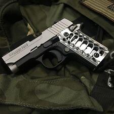 """SIG SAUER P238 Grips Billet Aluminum Brushed  """"Cobra Skeleton"""""""