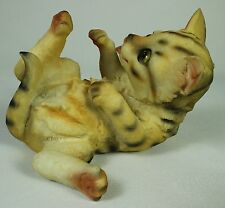 PLAYING KITTEN FIGURINE Polyresin Cat Figure Statue NEW Animal Pet Feline Kitty