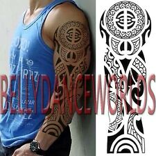 FULL ARM SLEEVE CELTIC TRIBAL TOTEM TEMPORARY TATTOO MAN BODY ART STICKER