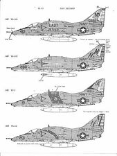 Old Packaging, Microscale A-4 E/F Skyhawk Decals 1/48 49, 4 Options