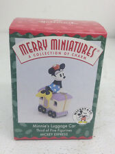 Disney Hallmark Keepsake Christmas Holiday Ornament Minnies Luggage Car