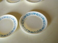 sindys accessories 6 vintage dinner plates blue and white 60s/70s/80s