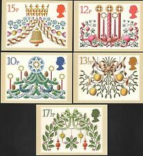 (39347) GB PHQ Postcards Mint Christmas Decorations 1980