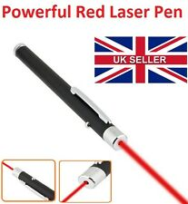 Powerful Red Color Laser Pointer Pen Beam Light 1mW Beam Ray 650nm - UK Seller