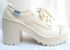 VTG 90'S..LA HALLE..CHUNKY HEEL..PLATFORM..CANVAS..SNEAKERS/ BOOTIES..NEW..7